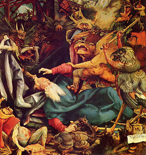 Grunewald, Matthias (1470c.-1528) - 1512-1516 The Temptation of St. Anthony - Isenheim Altar Panel ( Musée d'Unterlinden, Colmar, France) by RasMarley