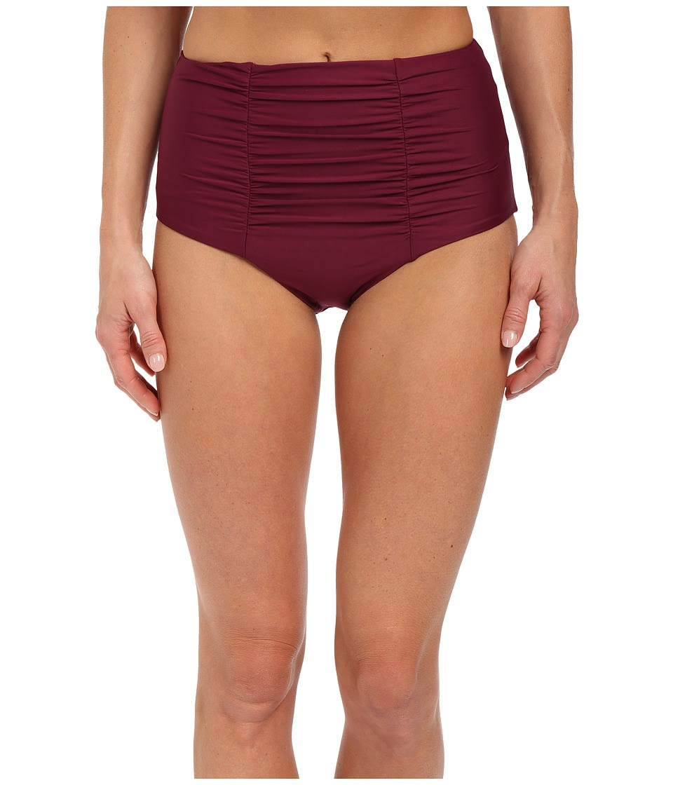 BECCA by Rebecca Virtue - Color Code High Waist Bottom (Marsala) Women's Swimwear