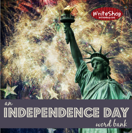 An Independence Day word bank
