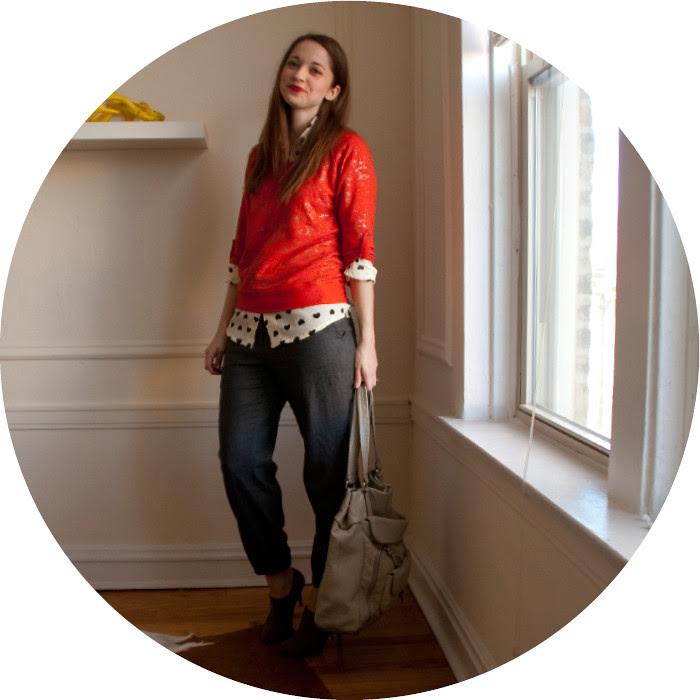 dash dot dotty, pattern mixing, heart print, target red sweatshirt, j.crew wool sweatpants, gray suede zipper tassle booties, work outfits, red lipstick, workfits, ootd, to wear to work