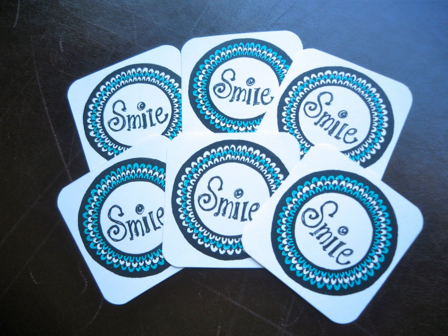 A Bunch of Smiles, Set of 6 mini cards