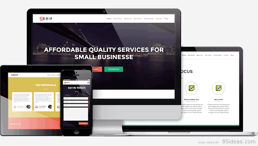 7 Best Free One Page Wordpress Themes of 2015 - 85ideas.com