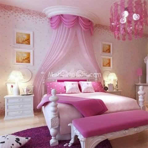 pengantin warna pink bilik tidur unicorn - serba pengantin
