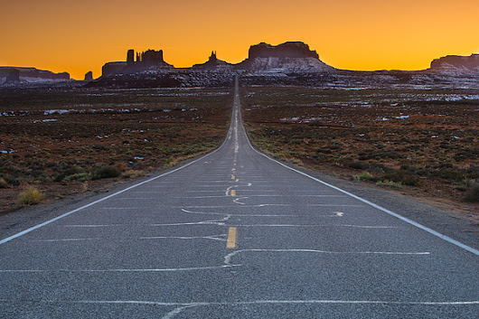 Long Road To Monument Valley by Larry Marshall