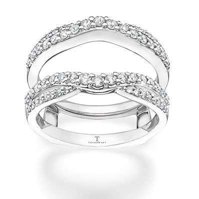 tolkowsky enhancer ring  ct tw diamonds  white gold