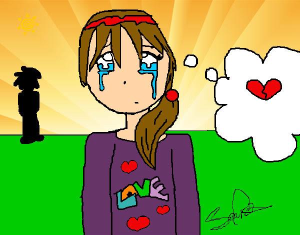 Dibujo De Nina Llorando Pintado Por Crisaba En Dibujos Net El Dia 21