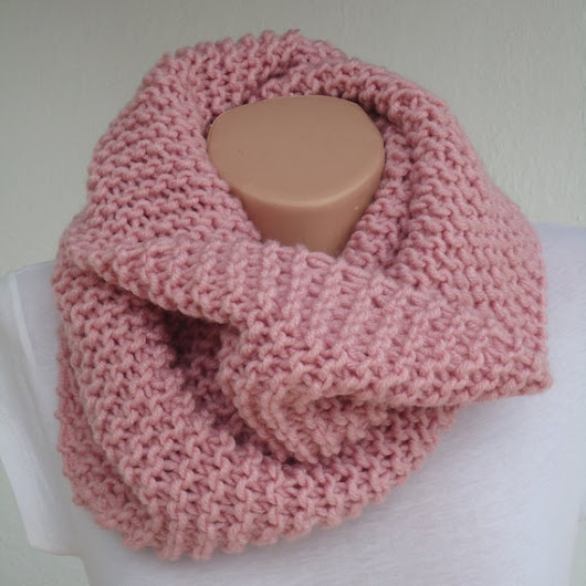 SALE pale pink knit scarf / knitted scarf/rose pink  by AYTULGIFT