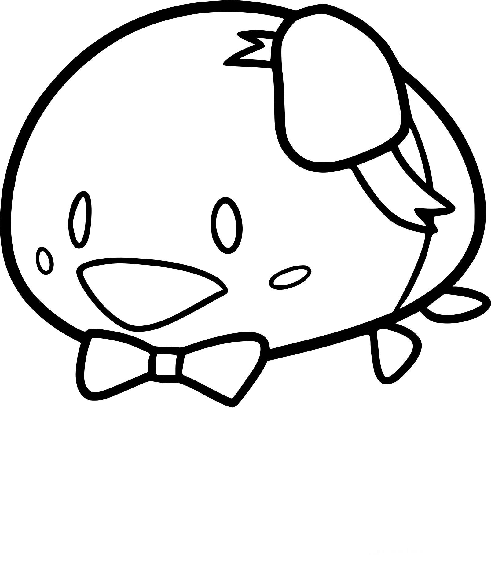 Coloriage Tsum Tsum Dumbo Disney Dessin