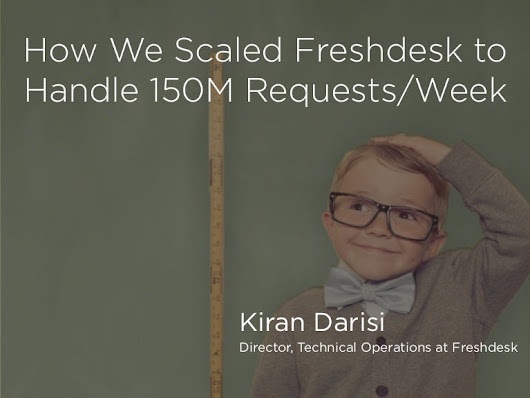 How We Scaled Freshdesk To Take 65M Requests/week