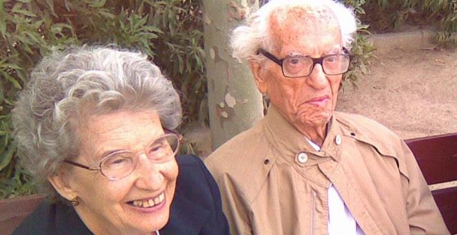 María Teresa y Wilebaldo Solano en 2010, poco antes del fallecimiento del histórico del POUM.