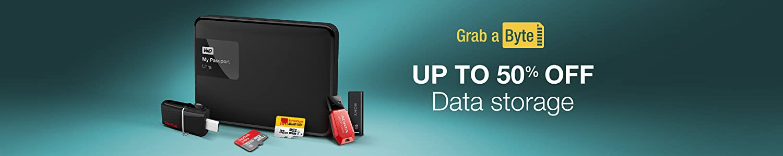 Upto 50% off Data Storage