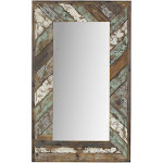 Aspire Home Accents Brogan Distressed Wood Slat Wall Mirror