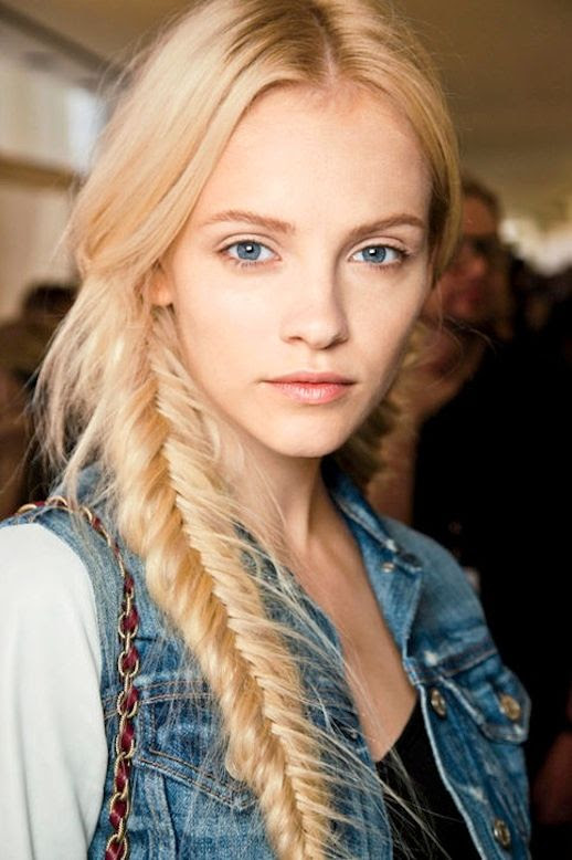 4 Le Fashion Blog 21 Braid Ideas For Long Hair Blonde Side Fishtail Ponytail Braided Hairstyle Via Glamour