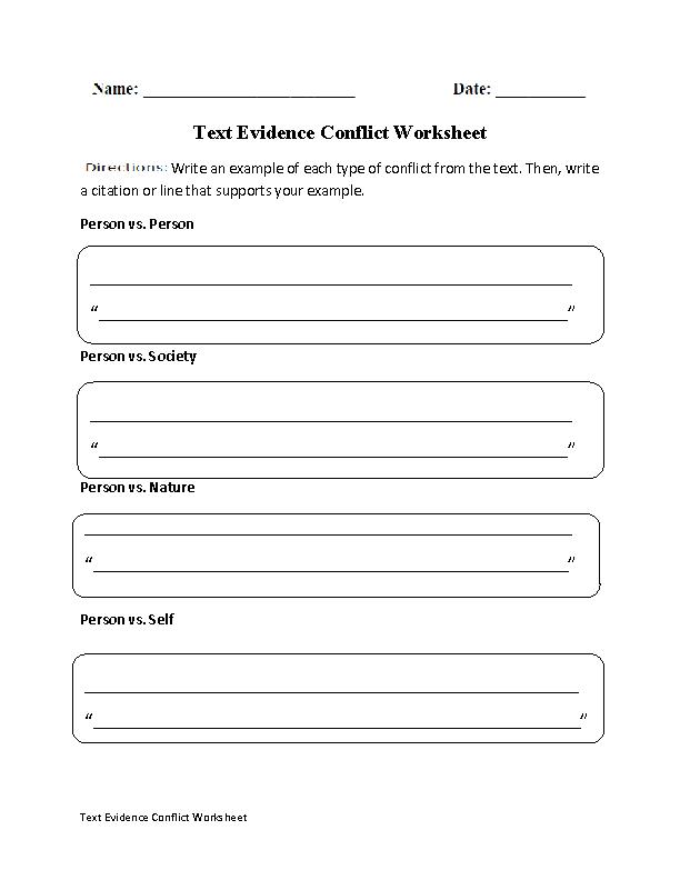 Englishlinx.com  Text Evidence Worksheets