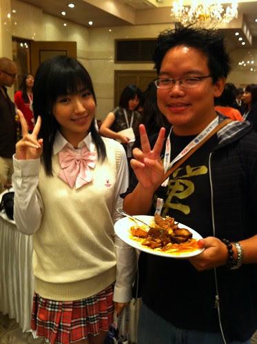 With actress Miho Matsushita