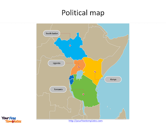 East African Community PowerPoint map - Free PowerPoint Templates