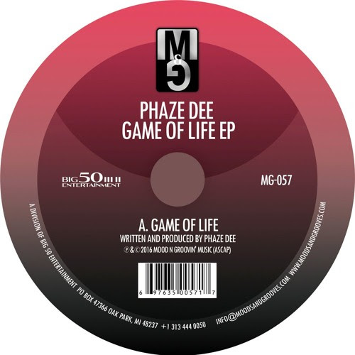 MG-057, Phaze Dee - Game Of Life Ep by Moods & Grooves Records