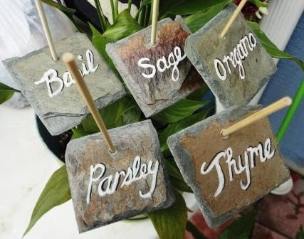 Garden markers  vegetable or herb tag labels - kpdreams
