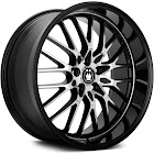 LA56D08405 Konig Lace Black Wheel with Machined Face