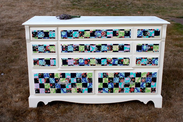Mod Podge Fabric dresser