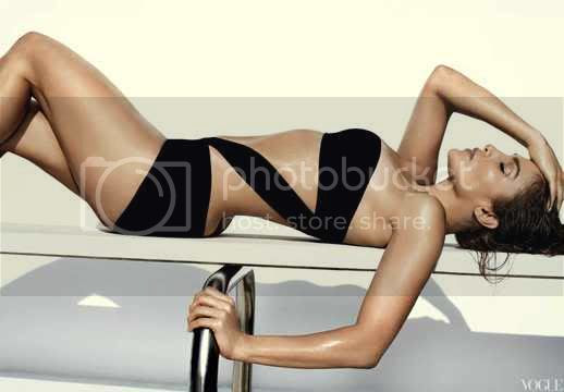 Jennifer Lopez Posed in Swimsuits for Vogue June 2012