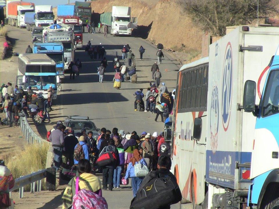 Se suspende el bloqueo en Villazón