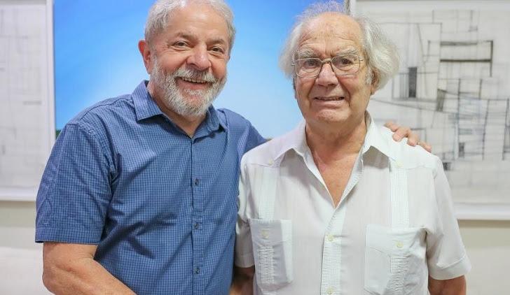 """Adolfo Pérez Esquivel propondrá a Lula para Premio Nobel de Paz """"por su lucha contra la pobreza"""". Foto: Ricardo Stuckert"""