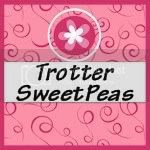 trotters sweet peas button