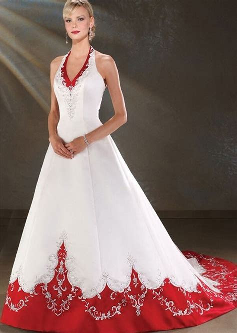 Popular Cheap Red and White Wedding Dresses Buy Cheap