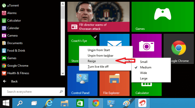 Methods to Customize Windows 10 Start menu