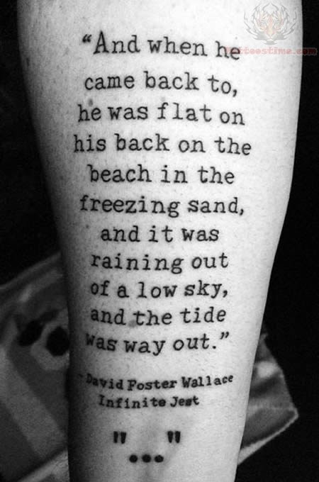 Literary Black And White Tattoo Picture