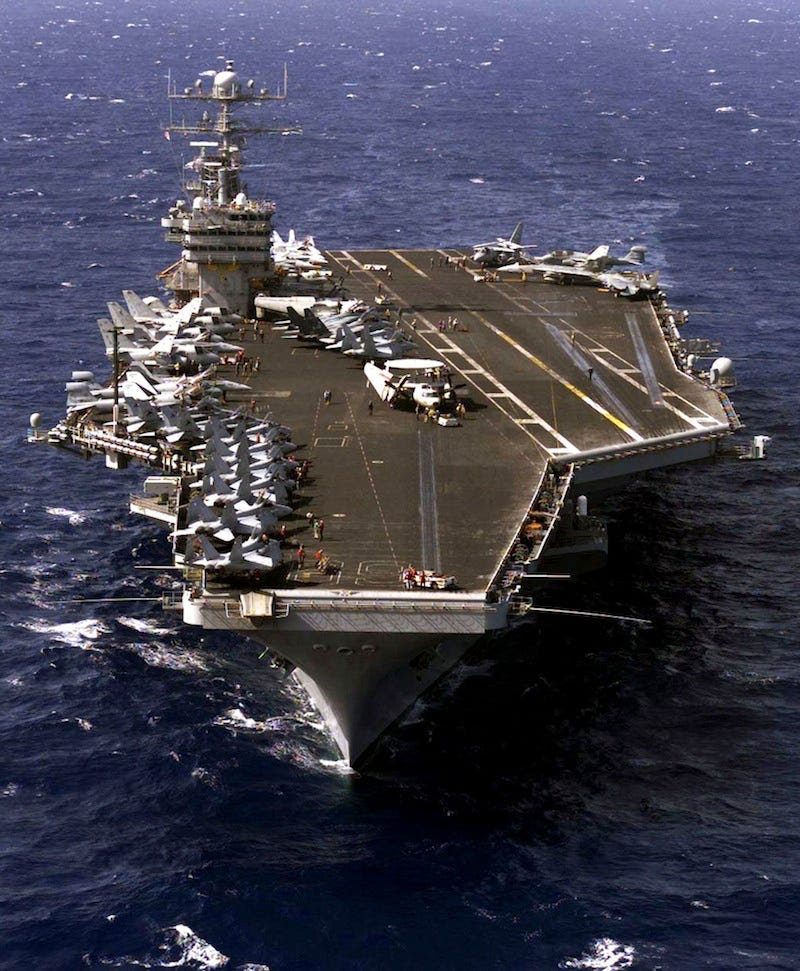 The USS Eisenhower was first deployed in 1975 and is not slated for replacement until around 2025.