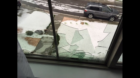 Hail shatters windows in Highlands Ranch neighborhood