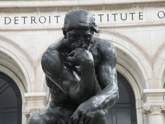 Rodin's Thinker Greets Visitors to the DIA