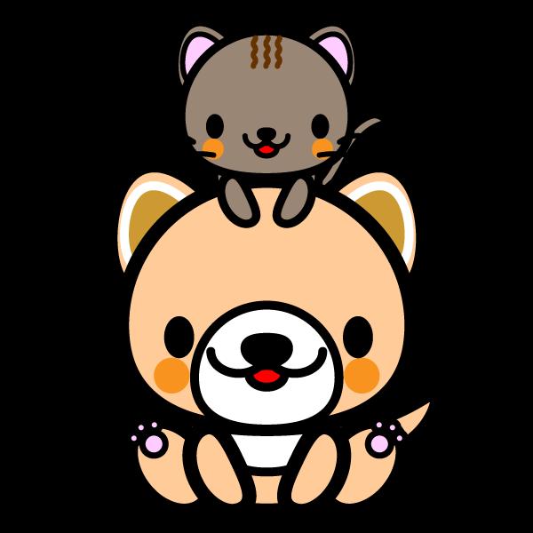 かわいい犬と猫の無料イラスト商用フリー オイデ43