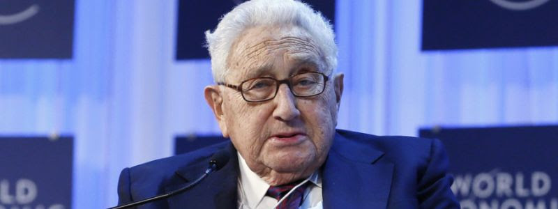 Henry Kissinger, chairman of Kissinger Associates, speaks during the annual meeting of the World Economic Forum in Davos