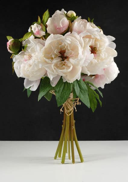 Peony Bouquet Cream Cerise 19in