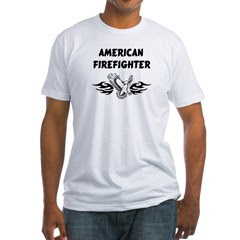 American Firefighter Fitted T-Shirt