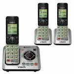 Vtech Cordless Digital Answering System, Base and 2 Handsets (VTECS66293)