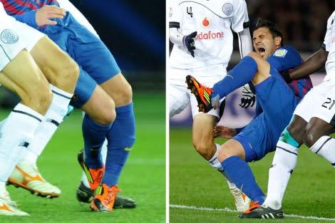 Imágenes de la lesión de David Villa. | Reuters | Efe