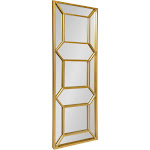 """18"""" x 54"""" Nahla Metal Framed Wall Mirror Gold - Kate and Laurel"""