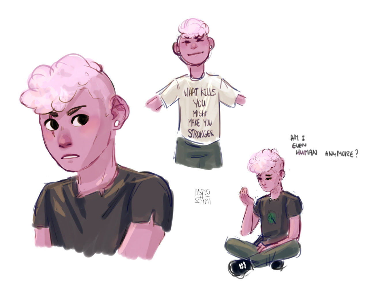 some quick lil lars doodles bc episode 28 yo, that shit gave me feels