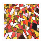Copper Gold Abstract Mosaic Canvas Print