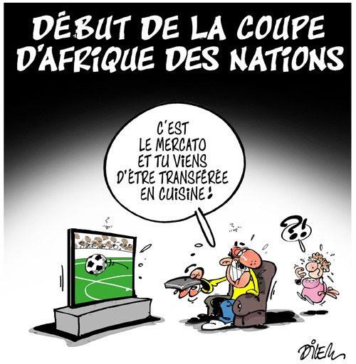 Début De La Coupe Dafrique Des Nations Caricatures Et
