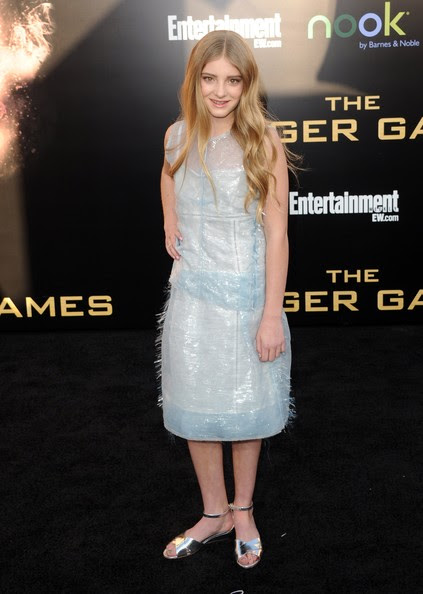 """Actress Willow Shields arrives at the premiere of Lionsgate's """"The Hunger Games"""" at Nokia Theatre L.A. Live on March 12, 2012 in Los Angeles, California."""