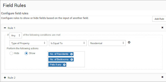 New field rules to make your Web eForms smart! - Docsvault-Document Management Software