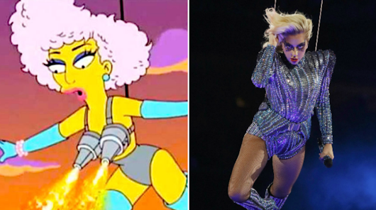"""The Simpsons"" predicted Lady Gaga's Super Bowl performance in 2012"