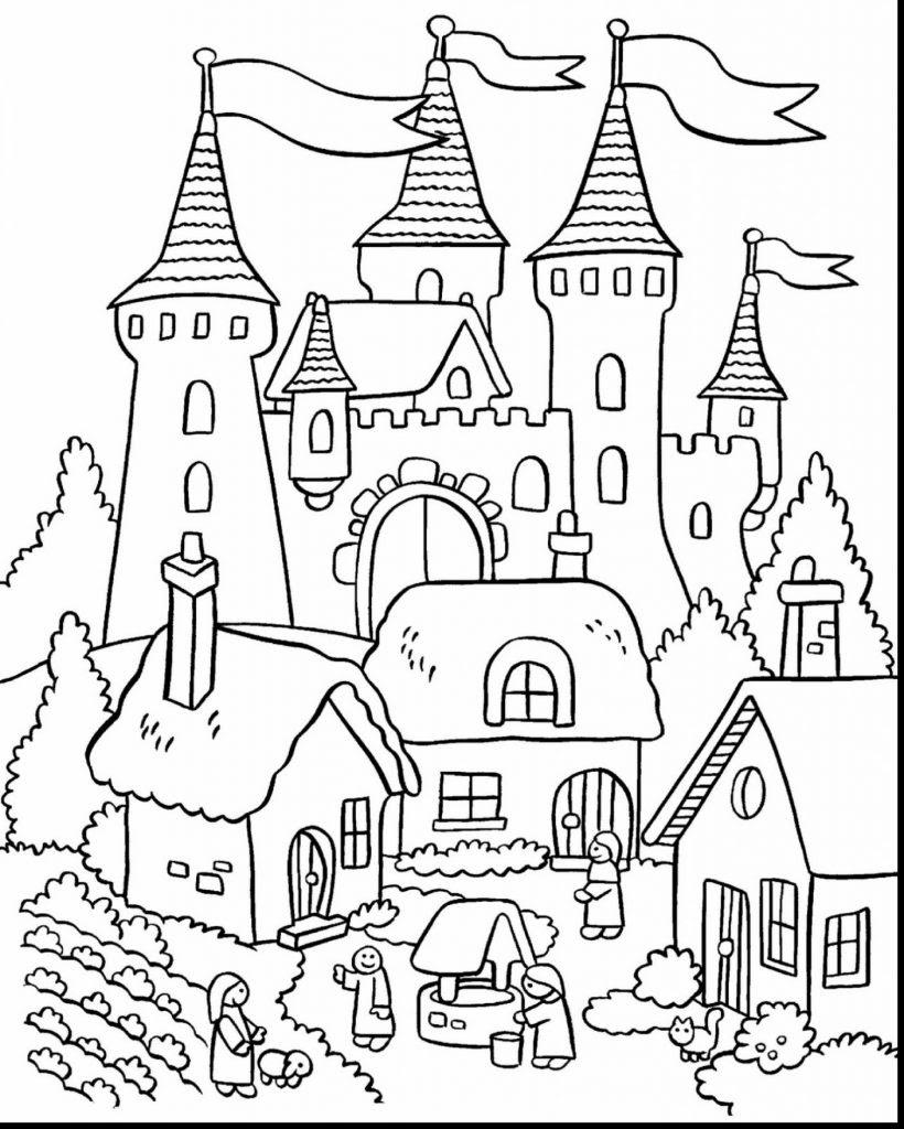 Medieval Castles Drawing at GetDrawings | Free download