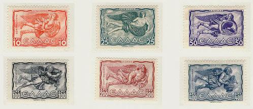ελληνικά γραμματόσημα με περαστάσεις των ανέμων