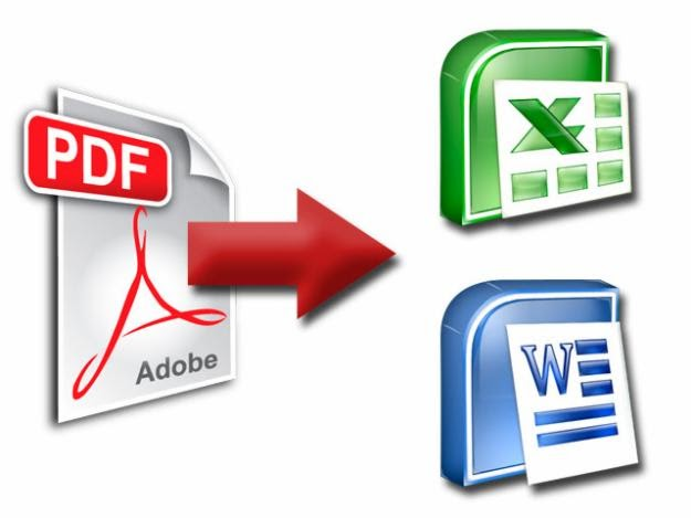 How to convert PDF files to Word or Excel
